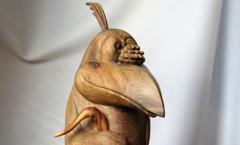 Ворона и джаз - Деревянная скульптура Владимира Цепляева