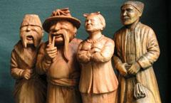 Диканька - Деревянная скульптура Владимира Цепляева