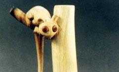 Лемурчик - Деревянная скульптура Владимира Цепляева