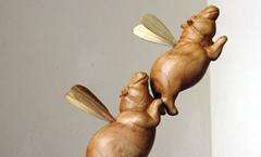 На весенние луга - Деревянная скульптура Владимира Цепляева