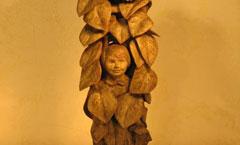 Подсолнухи (солнышки) - Деревянная скульптура Владимира Цепляева