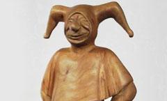Шут - Деревянная скульптура Владимира Цепляева