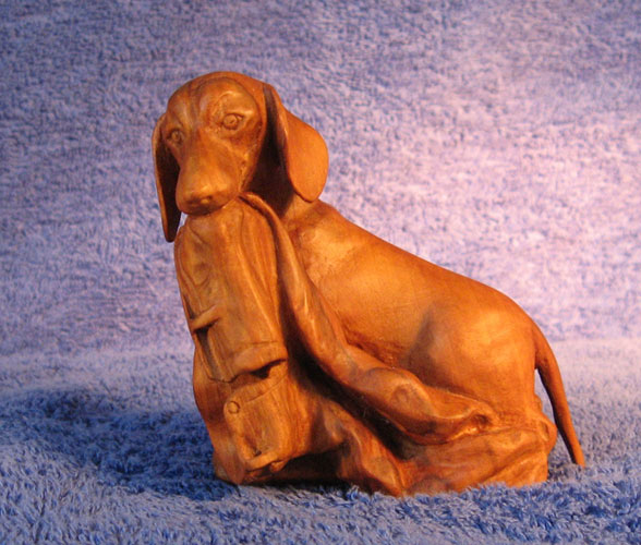 Утро выходного дня 2 - Деревянная скульптура Владимира Цепляева