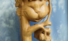 Чеширский кот - Деревянная скульптура Владимира Цепляева
