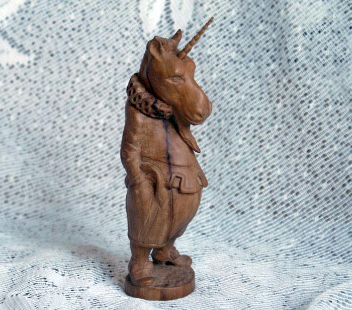 Единорог - Деревянная скульптура Владимира Цепляева