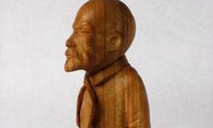 Ленин-пионер - Деревянная скульптура Владимира Цепляева