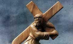 Несение креста - Деревянная скульптура Владимира Цепляева