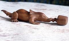 Шорек (Алиса в Зазеркалье) - Деревянная скульптура Владимира Цепляева