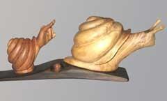 Отцы и дети - Деревянная скульптура Владимира Цепляева