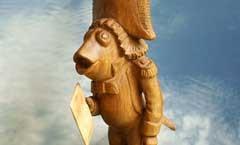 Лакей-Лещ - Деревянная скульптура Владимира Цепляева