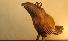 Ворона - Деревянная скульптура Владимира