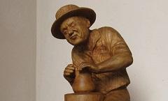 Чудо коловращения - Деревянная скульптура Владимира
