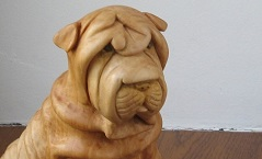 Шарпей - Деревянная скульптура Владимира Цепляева
